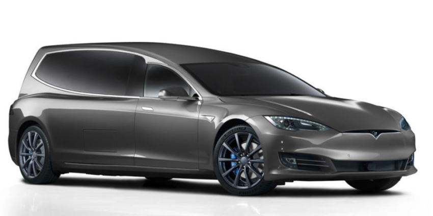 Tesla Model S-derived hearse revealed to cater for 'eco-funerals'