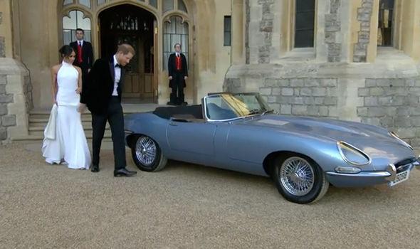 Royal wedding electric Jaguar