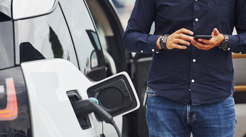 Electric vehicle charging smartphone