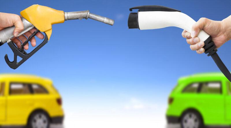 electric charging petrol fuel pump